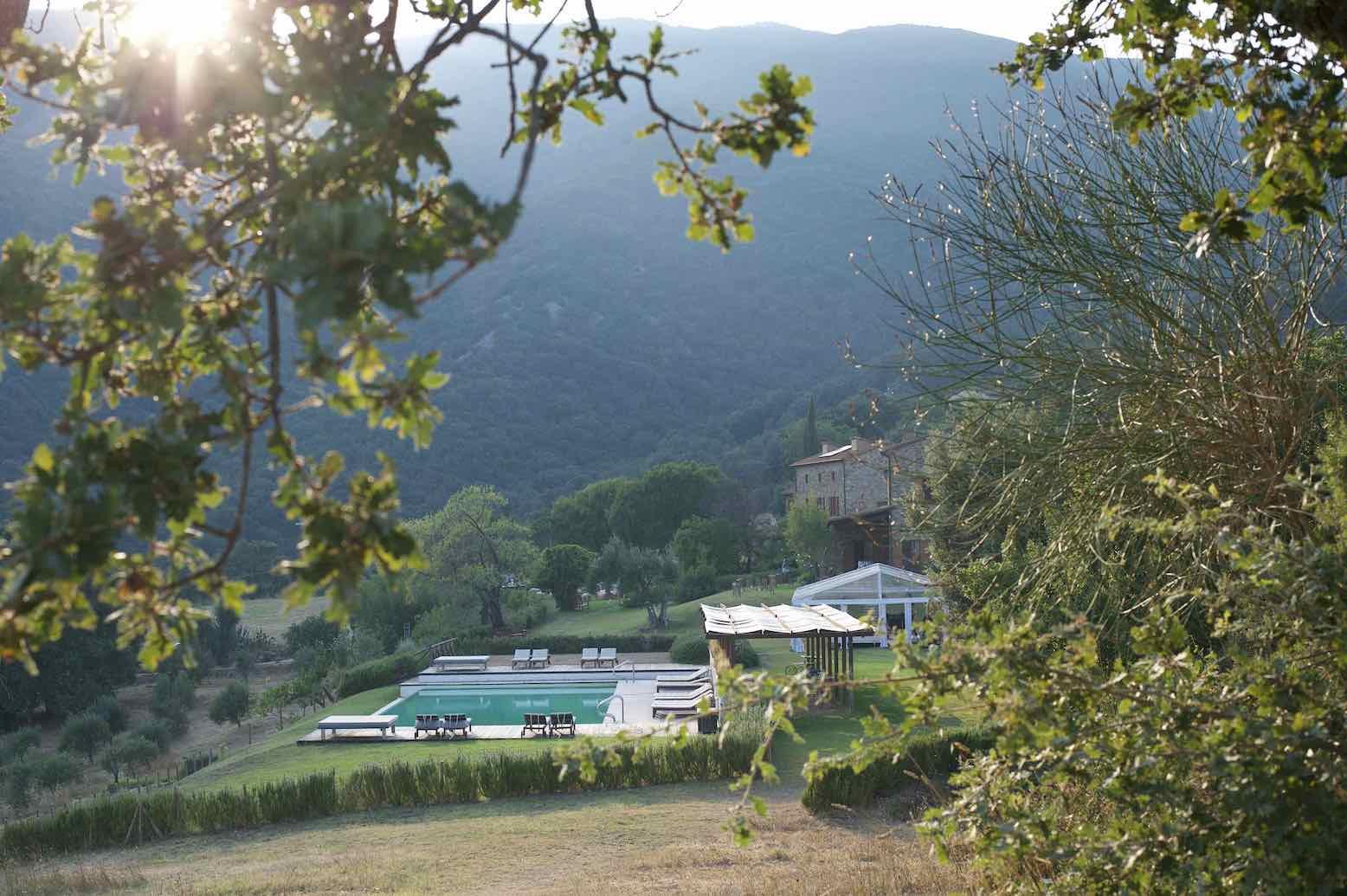 Vista Piscina - Boschi di Montecalvi
